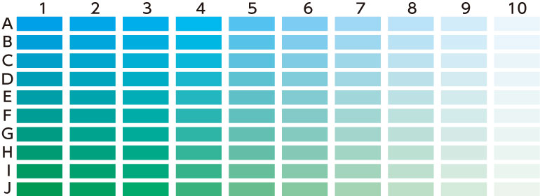 カラーチャート 緑青