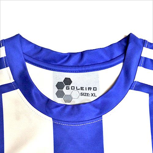 オリジナルユニフォームの襟の種類のひとつ、丸襟の写真