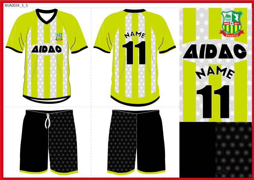aidacオリジナルサッカーユニフォーム