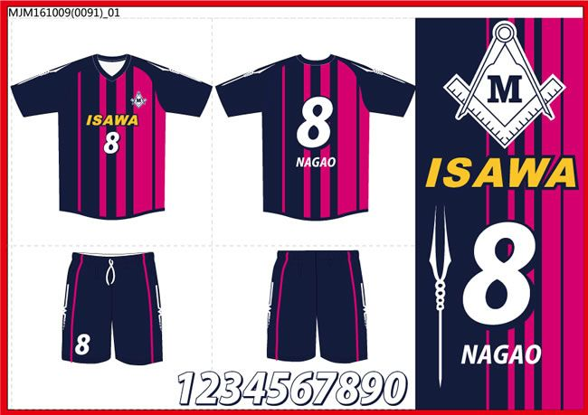 FC ISAWA様オリジナルフットサルユニフォームデザイン