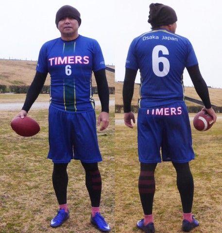 フラッグフットボールユニフォームサイズ